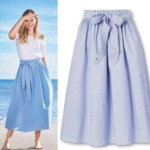 NWT Vineyard Vines x Target Striped Midi Skirt